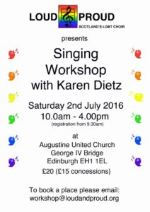 Singing Workshop Poster 2 July 2016