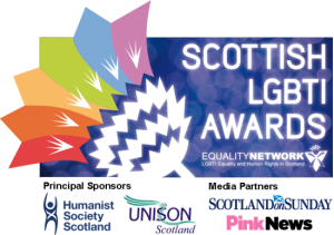 Scottish LGBTI Awards logo and sponsors