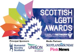 Scottish LGBTI Awards logo and sponsors