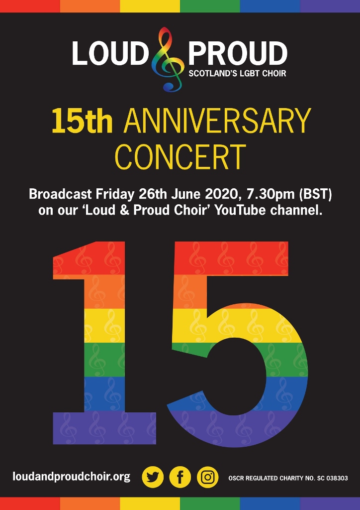 Poster: Loud & Proud 15th Anniversary Concert