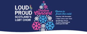 Loud and Proud Festive Concert 2019 Banner